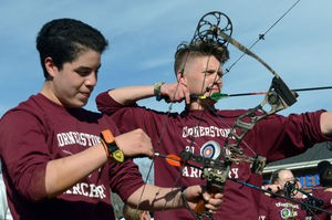 Archery helps Cornerstone students find focus